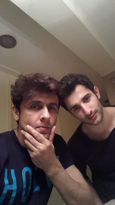 with Sidhant Gupta . Sonu Nigam, Celebs, Celebrities, White Man, New Look, Actors, My Favorite Things, My Love, Selfies