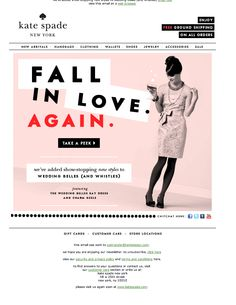 Kate Spade Wedding Belle Email Design