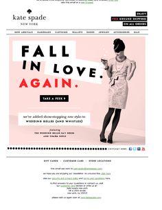 Kate Spade Wedding Belle Email Design