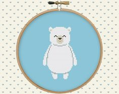 Bear polar cross stitch.