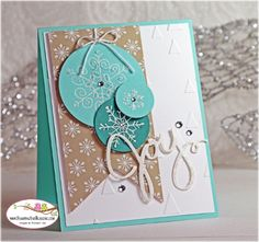Wednesday, October 2014 Stamping with Sandi: Stampin Up Endless Wishes, Trim The Tree DSP Stack, Snowflake Card Thinlits Dies, On Point TIEF Christmas Card Crafts, Homemade Christmas Cards, Noel Christmas, Xmas Cards, Christmas Greetings, Diy Cards, Handmade Christmas, Homemade Cards, Holiday Cards