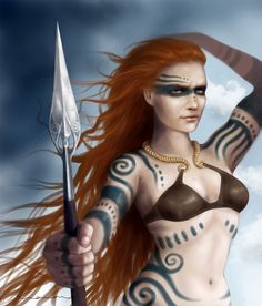 Queen Boudicca- celtic woad tattoos
