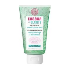 Soap and Glory Face Soap and Clarity 3-in-1 Daily Detox Vitamin C... (215 UAH) ❤ liked on Polyvore featuring beauty products, skincare, face care, face cleansers, beauty, makeup, exfoliating face wash and exfoliating facial cleanser
