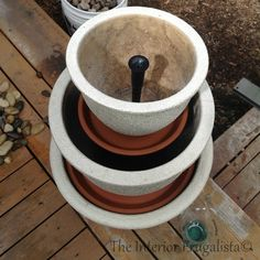 Step 8 How To Turn Plant Pots Into A Water Fountain | The Interior Frugalista