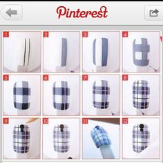 Hello loves! Here s what I used for my plaid nails... This step-by-step pictoria Check out Dieting Digest