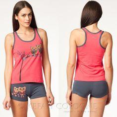 KEFALI Hausanzug Damen Pyjama Set Schlafanzug Homewear Hotpant T-Shirt 36 38 NEU