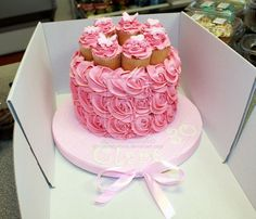 Pink Buttercream Roses Birthday Cake by cakesbylorna.deviantart.com on @DeviantArt