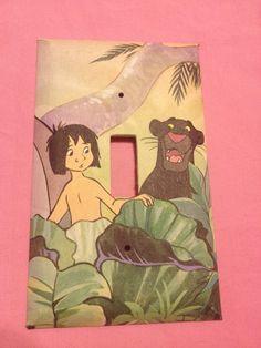 Jungle Book Mowgli and Bagheera Light Switch by Hippiemysticstudio