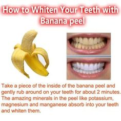 Banana Peel Whitening