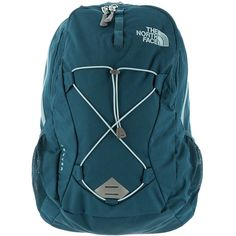 The North Face Jester Backpack women's Blue Bags ($65) ❤ liked on Polyvore featuring bags, backpacks, purses, blue, strap backpack, laptop bag, the north face backpack, the north face rucksack and blue laptop bag