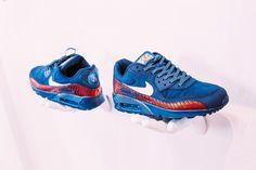 O Nike Air Max 90 versão Paris Saint-Germain. Apenas 24 unidades serão criadas (Foto: Divulgação)