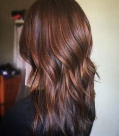 Whether you've got long dark hair or a blonde bob, adding balayage highlights is the perfect way to brighten up your hair color and add dimension to your style! Auburn Balayage, Hair Color Balayage, Hair Highlights, Auburn Highlights, Hair Color Auburn, Brown Auburn Hair, Long Auburn Hair, Hair Color And Cut, Brunette Hair