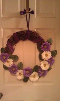 My flowered wreath