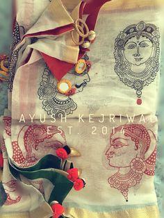 Dupattas by Ayush Kejriwal For purchases email me at… Indian Attire, Indian Outfits, Indian Dresses, Kurta Patterns, Formal Saree, Kerala Saree, Indian Textiles, Kurta Designs, India Fashion