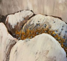 Sold Original Textured Flower Abstract Contemporary by YueJinArt