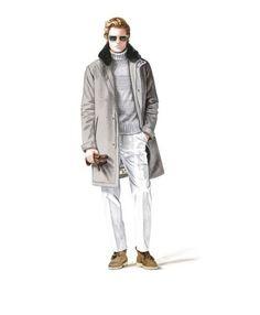 Loro Piana fw15 - fur collar overcoat