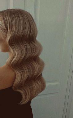 Wedding Hair Colors, Wedding Hair And Makeup, Bridal Hair, Hair Makeup, Medium Hair Styles, Long Hair Styles, Blonde Hair Looks, Corte Y Color, Aesthetic Hair