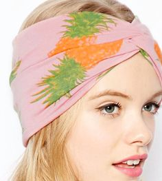 """Pineapple print turban headband, @ASOS.com   As seen in """"10 Quirky Spring Accessories"""" on StyleCaster: http://www.stylecaster.com/quirky-accessories"""