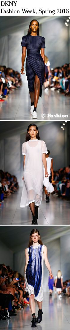 Looks from the DKNY spring/summer 2016 show during New York Fashion Week. (Photos: Regis Colin Berthelier/Nowfashion)
