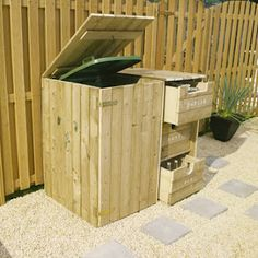 Afval gescheiden verzamelen  https://www.gamma.nl/afvalcontainer-grote-ombouw