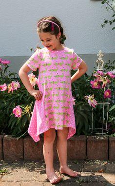 Sidecut Kleid, Schnitt mit 3 Varianten Zipfel, Ballon und Drehkleid