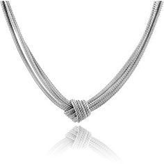 "Sterling Silver 3-Strand Mesh Knot Necklace -17""  Product ViewSee larger image and other views (with zoom)Product ScreenshotsCheck All OffersAdd to Wish ListCustomer ReviewsFeaturesDesigner JewelryHigh QualityDescriptionElegant Italian designer http://ecx.images-amazon.com/images/I/417hkxaGg3L._SL300_.jpg http://electmejewellery.com/jewelry/necklaces/chokers/sterling-silver-3strand-mesh-knot-necklace-17-com/"