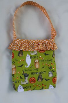 ON SALE Halloween Trick or Treat Bag. $9.90, via Etsy.
