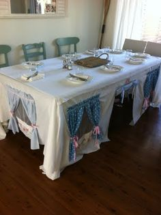 "another take on the tablecloth ""fort.""  Can't wait to do this!                                                                                                                                                                                 Mais"