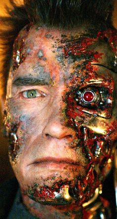 Arnold Schwarzenegger, Terminator 3: Rise of the Machines | 16 Images That Prove Just How Much Movie Makeup Can Change An Actor's Face