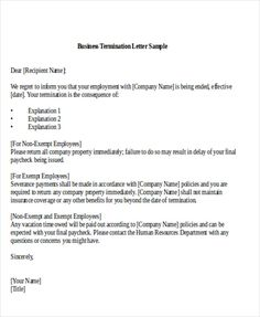 Awesome [ Sample Termination Business Letter Examples Word Pdf Partnership  Templates Free Example ]   Best Free Home Design Idea U0026 Inspiration