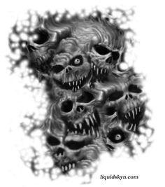 skull clown tattoo designs | Gangster Smoking Skull Tattoo