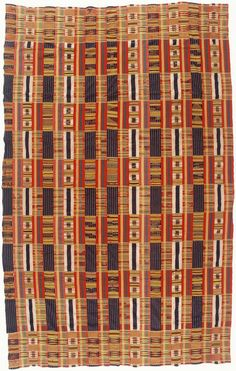 West African Textile | 19th century...inspiration for outside concrete wall design