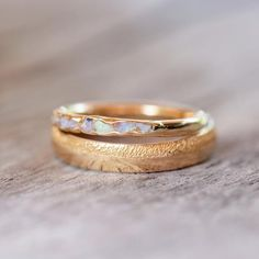 Opal Fossil Ring in Gold // Hidden Gems - Gardens of the Sun Jewelry