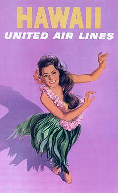 Vintage United Airlines Poster