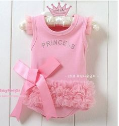 New baby girls bodysuit one-piece Princess Dress kids T shirt & dress set H005   eBay