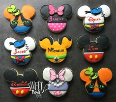 Still baking up oodles of character cookies over here! Paw Patrol has been my kid request for 2018 so far. Mickey Smash Cakes, Mickey Cupcakes, Minnie Mouse Cookies, Disney Cookies, Mickey Mouse Cake, Mickey Mouse Parties, Mickey Party, Mickey Mouse And Friends, Mickey Mouse Clubhouse