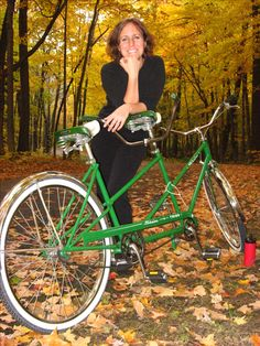 our '67 schwinn tandem.  the 'date night bike'