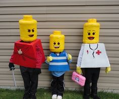 Use cardboard to make this LEGO-inspired group costume.