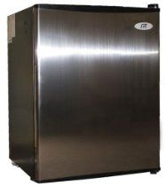 Compact Refrigerator - Flush back, compact design is ideal for college dorm room or office, perfect for counter-top placement. Features tall bottle door rack, separate ice maker chamber and adjustable thermostat Best Wine Refrigerator, Cool Mini Fridge, Compact Refrigerator, Refrigerator Freezer, Tag Pin, Door Rack, Appliance Sale, Fireplace Accessories, Kitchen Gadgets