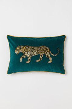 Leopard Jaguar Tiger Animal Print Cushion Cover Pillow Velvet Black Jungle Spots