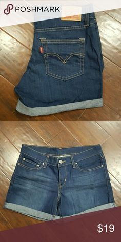 Levi's jean shorts !!!  ( NWOT ) Levi blue jean shorts.  NWOT ... Purchase them and forgot about them.  No rips, tears or stains Levi's Shorts