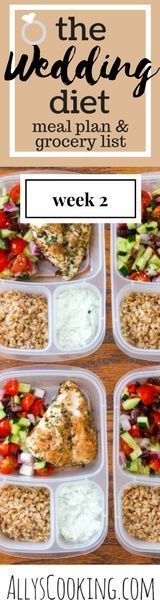 The Wedding Diet Meal Plan: Week 2 via @Ally's Cooking
