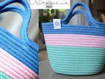 Kindertasche Baumwolle rosa türkis blau DUO 17