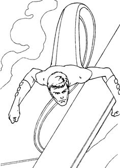Mr Fantastic The Power To Stretch Coloring Page A About Famous