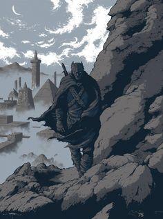 Art   ARIK ROPER – BATMAN IRON AGE ART PRINT