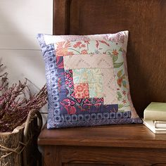 January's Log Cabin Pillow