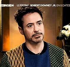 Robert Downey Jr Smile gif |