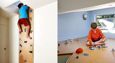 Indoor Climbing Wall & hidden loft