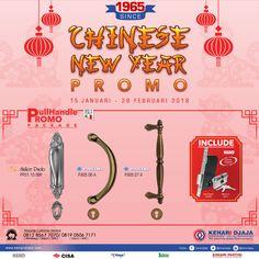 """Ayo Nikmati Segera Promo Istimewa Dari Kenari Djaja """"Chinese New Year"""" Mulai dari 15 Januari - 28 Pebruari 2018. Dapatkan Paket Handle Set Dengan Harga Istimewa... Segera Kunjungi Showroom Terdekat Kami  Informasi Hub. : Ibu Tika 0812 8567 7070 ( WA / Telpon / SMS ) 0819 0506 7171 ( Telpon / SMS )  Email : digitalmarketing@kenaridjaja.co.id  [ K E N A R I D J A J A ] PELOPOR PERLENGKAPAN PINTU DAN JENDELA SEJAK TAHUN 1965"""
