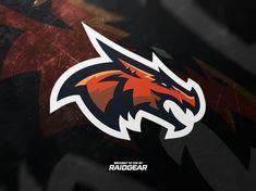 Dragon mascot by Mike Janz / Raid Gear Team Logo Design, Mascot Design, Sports Team Logos, Esports Logo, Logo Background, Game Logo, Logo Concept, Animal Logo, Cool Logo